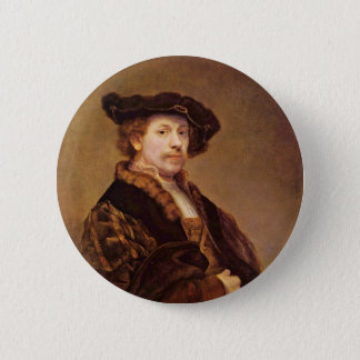 Self Portrait At The Age Of 33 By Rembrandt 2 Inch Round Button