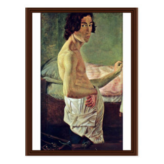 Self-Portrait At The Easel By Janssen Victor Emil Postcard