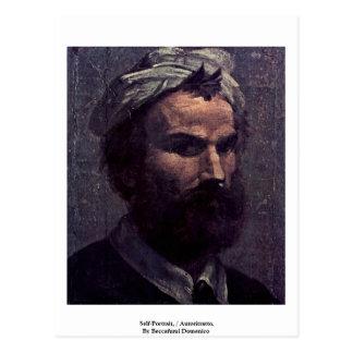 Self-Portrait, / Autoritratto. Postcard