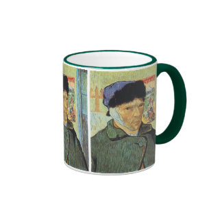 Self Portrait, Bandaged Ear by Vincent van Gogh Ringer Coffee Mug