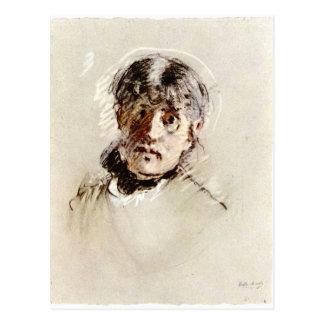 Self-Portrait by Berthe Morisot Postcard