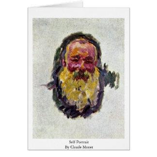 Self-Portrait By Claude Monet Card