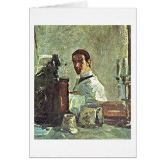 Self-Portrait By Henri De Toulouse-Lautrec Card
