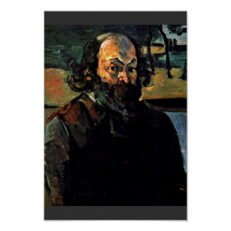 Self-Portrait. By Paul Cézanne (Best Quality) Poster