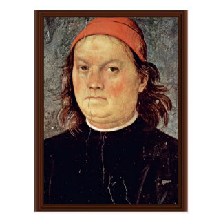 Self Portrait By Perugino Pietro (Best Quality) Postcard