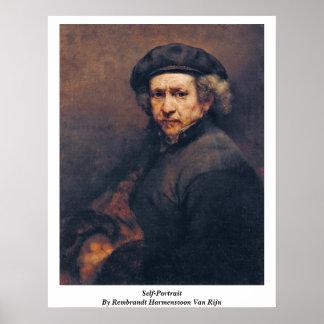Self-Portrait By Rembrandt Harmenszoon Van Rijn Poster