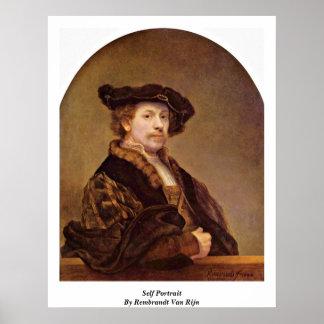 Self Portrait By Rembrandt Van Rijn Posters