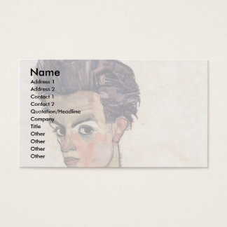 Self-Portrait By Schiele Egon Business Card