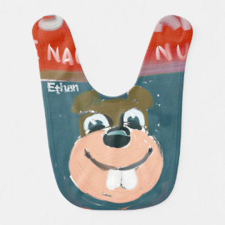Self-portrait by the NN Squirrel personalized Baby Bib