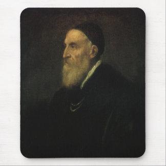 Self Portrait by Titian, Renaissance Art Mouse Pad