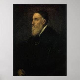 Self Portrait by Titian, Renaissance Art Poster