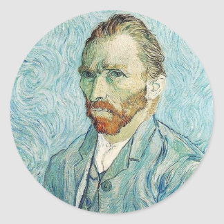 Self Portrait by Vincent Van Gogh Round Sticker