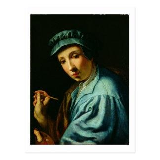 Self Portrait, c.1555 (oil on panel) Postcard