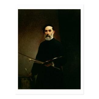 Self Portrait, c.1860-62 (oil on canvas) Postcard