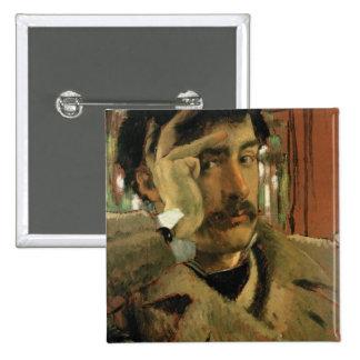 Self portrait, c.1865 2 inch square button