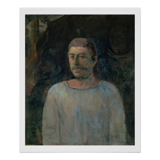 Self portrait, close to Golgotha, 1896 (oil on can Poster