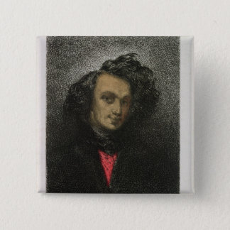 Self portrait, dressed for 'Hernani' 2 Inch Square Button