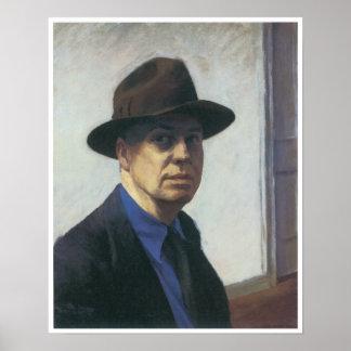 Self-Portrait Edward Hopper Poster