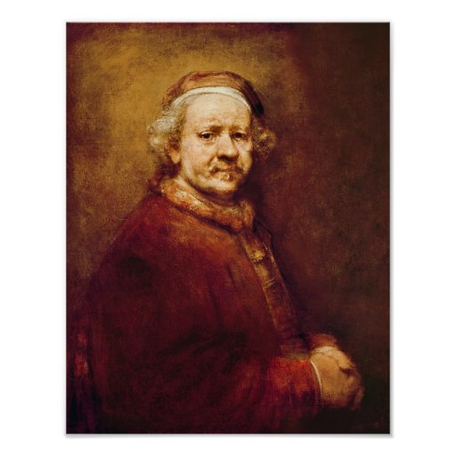 Self Portrait in at the Age of 63, 1669 Poster