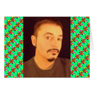 Self Portrait in Brown Sweater Card