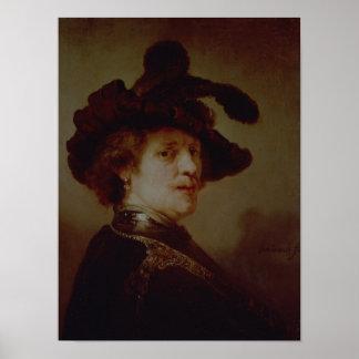 Self Portrait in Fancy Dress, 1635-36 Poster