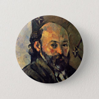 Self-Portrait In Front Olive-Green Wallpaper 2 Inch Round Button