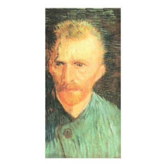 Self-portrait in green by Vincent van Gogh Photo Greeting Card