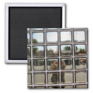 self portrait in squares magnet