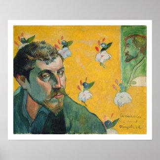 Self Portrait, Les Miserables,1888 (oil on canvas) Poster