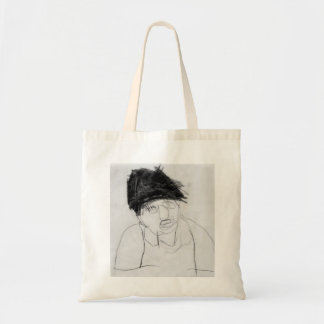 Self Portrait (line drawing) by Johnny Tote Bag
