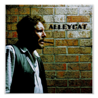 Self-Portrait of Bruce AlleyCat Poster