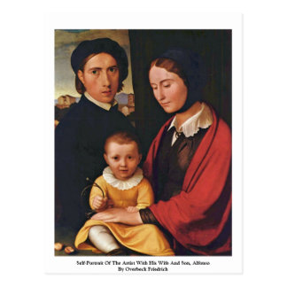 Self-Portrait Of The Artist With His Wife And Son Postcard