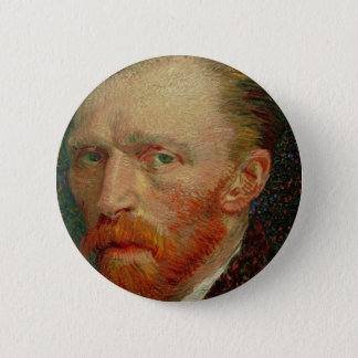 Self Portrait of Vincent Van Gogh 2 Inch Round Button