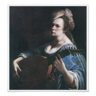 Self-Portrait Playing a Lute, 1615-17 Posters