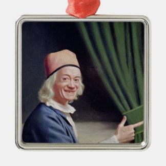Self Portrait Smiling, c.1770-73 Silver-Colored Square Ornament