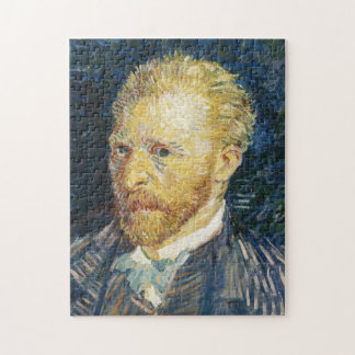 Self Portrait Vincent van Gogh fine art painting Jigsaw Puzzle