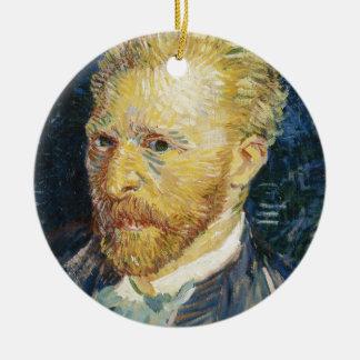 Self Portrait Vincent van Gogh fine art painting Round Ceramic Ornament