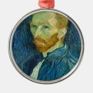 Self-Portrait, Vincent van Gogh Silver-Colored Round Ornament