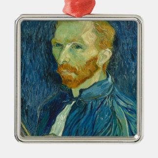 Self-Portrait, Vincent van Gogh Silver-Colored Square Ornament