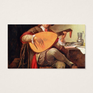 Self-portraitwith a lute by Jan Steen Business Card
