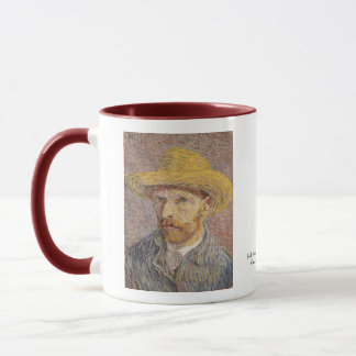 Self Portrait with a Straw Hat by Vincent van Gogh Mug