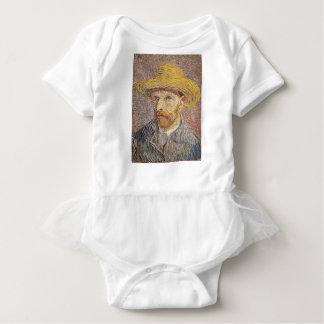 Self-Portrait with a Straw Hat - Van Gogh Baby Bodysuit