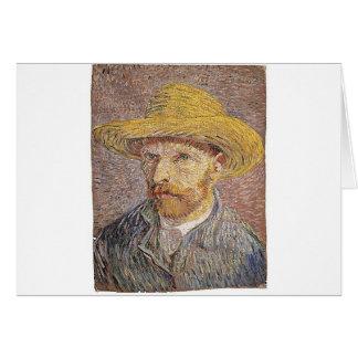 Self-Portrait with a Straw Hat - Van Gogh Card