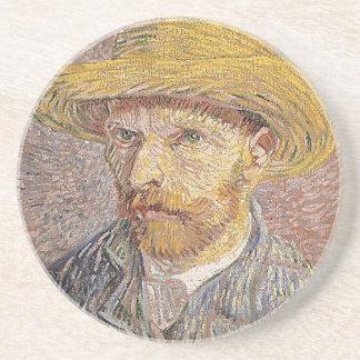 Self-Portrait with a Straw Hat - Van Gogh Coaster
