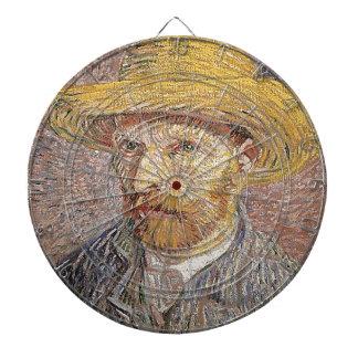 Self-Portrait with a Straw Hat - Van Gogh Dartboard