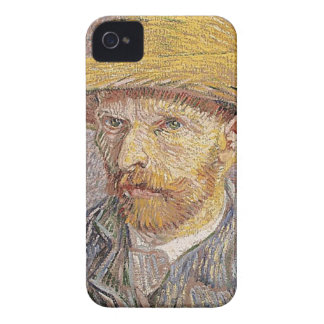 Self-Portrait with a Straw Hat - Van Gogh iPhone 4 Covers