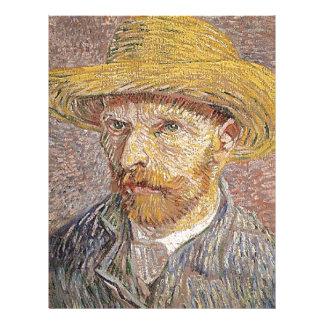 Self-Portrait with a Straw Hat - Van Gogh Letterhead
