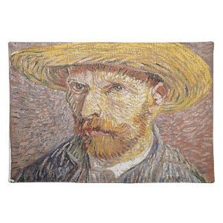 Self-Portrait with a Straw Hat - Van Gogh Placemat