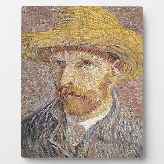 Self-Portrait with a Straw Hat - Van Gogh Plaque