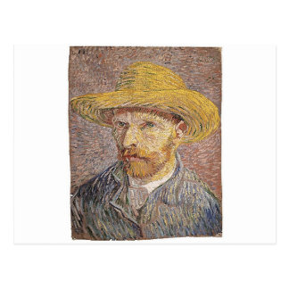 Self-Portrait with a Straw Hat - Van Gogh Postcard